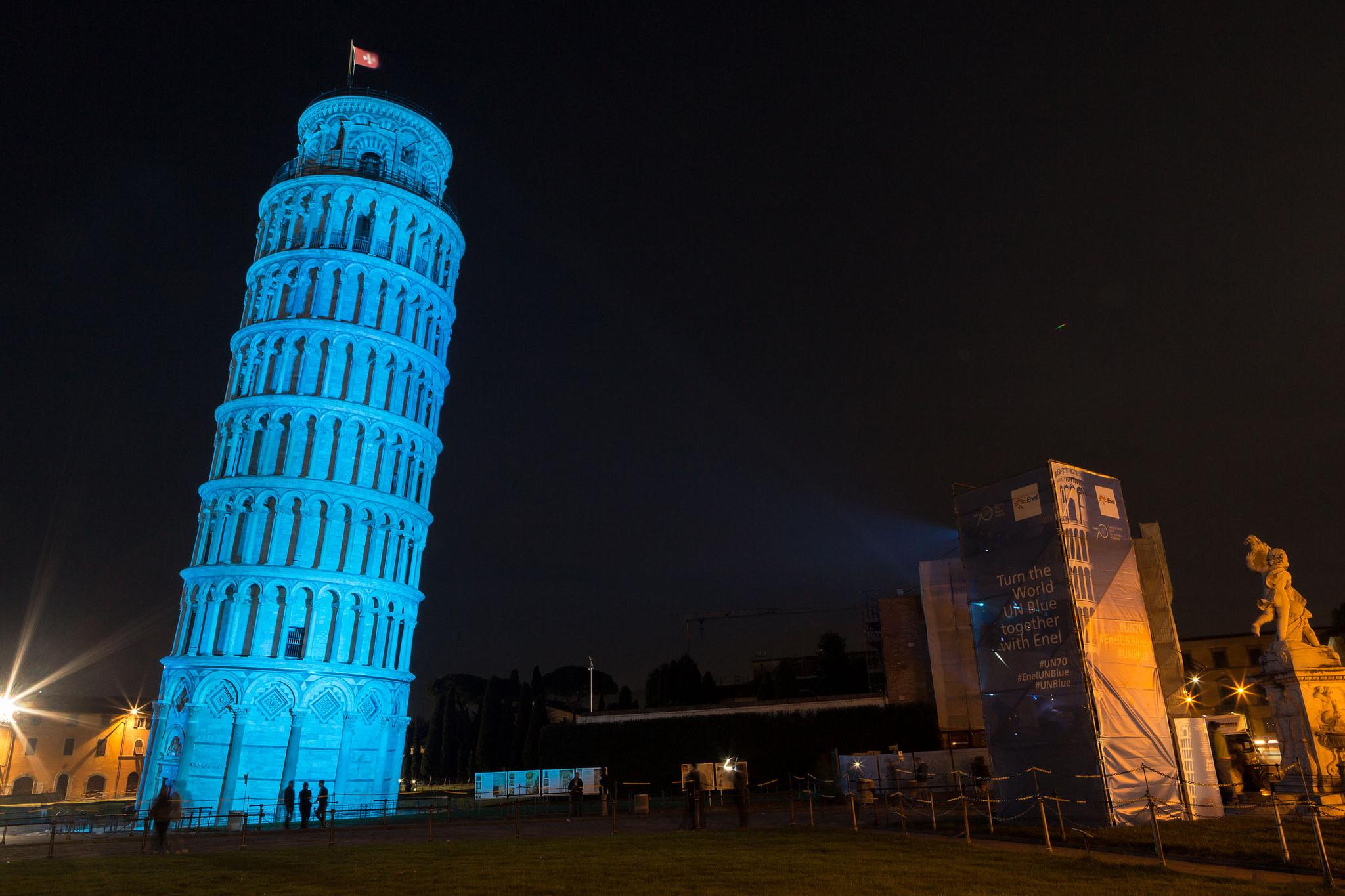 Pisa Leaning Tower, Piazza del Duomo, Italy. Credit: Luca Briganti for Enel/ UN Information Centre/ Flickr