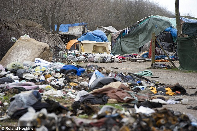 """The ever worsening sanitary and hygienic condition in the """"Jungle"""" has lead to several spreading diseases among the camp's residing migrants. Credit: Roland Hoskins"""