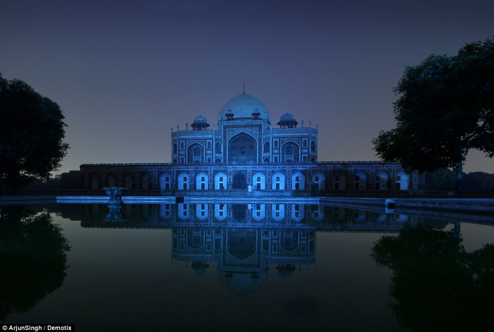 The Humayun's Tomb monument in New Delhi, India. Credit: Arjun Singh/ Demotix