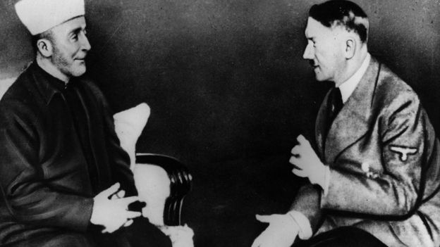 Hajj Amin al-Husseini meeting with Adolf Hitler in 1941