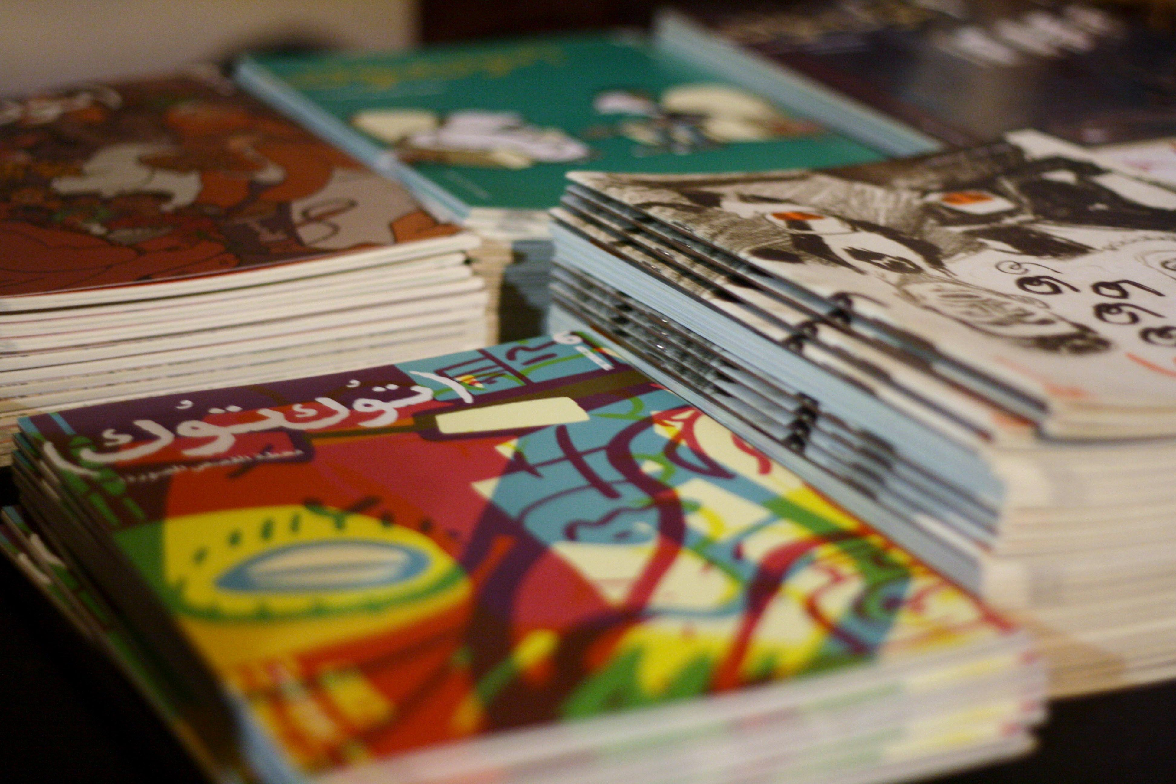 Various editions of TokTok, one of Egypt's Arabic comic books