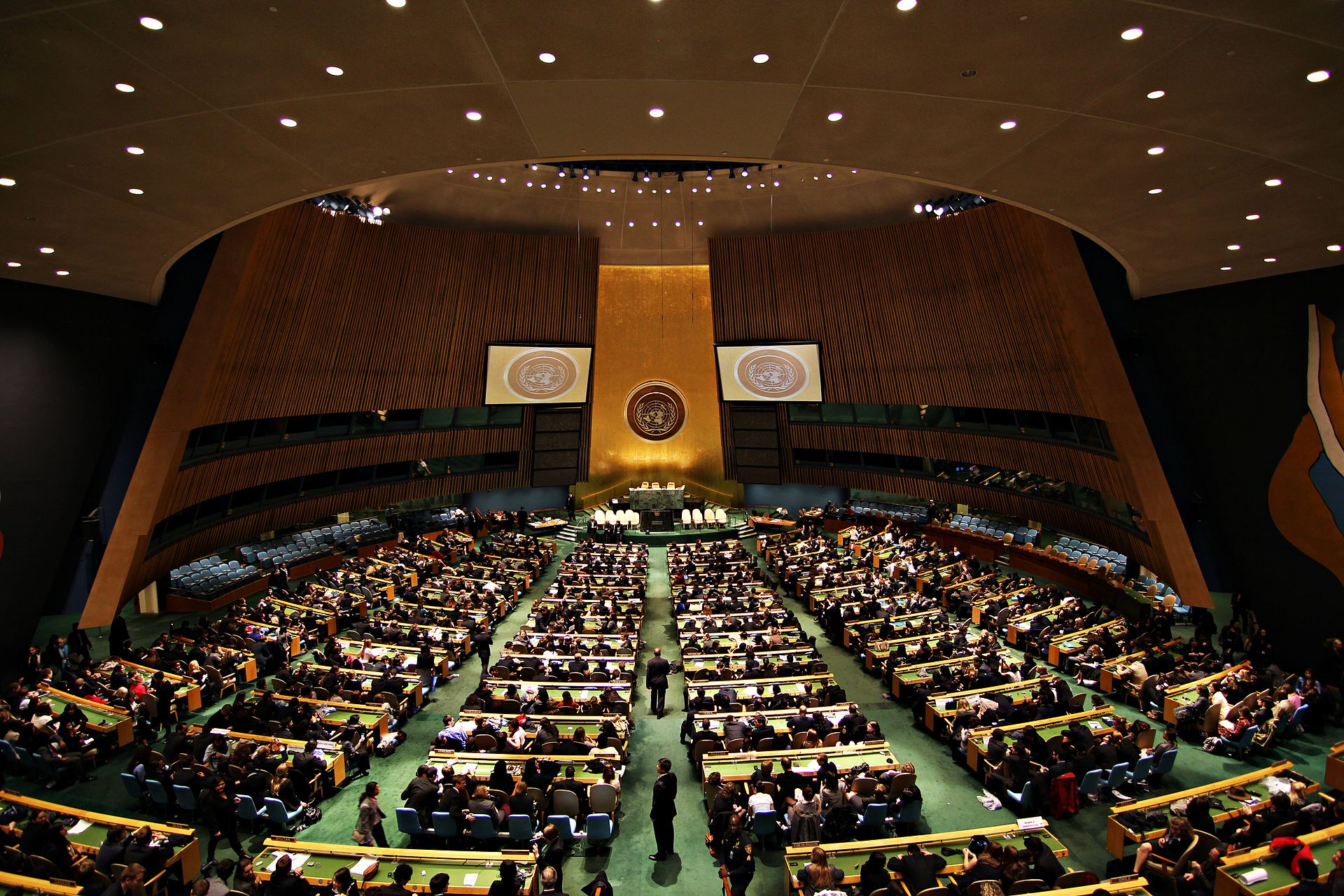 United Nations General Assembly Hall. Photo: Basil D. Soufi