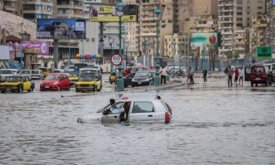 Alexandria's flooded Corniche on 25 October 2015. Credit: Asmaa Abdelatif/Youm7.