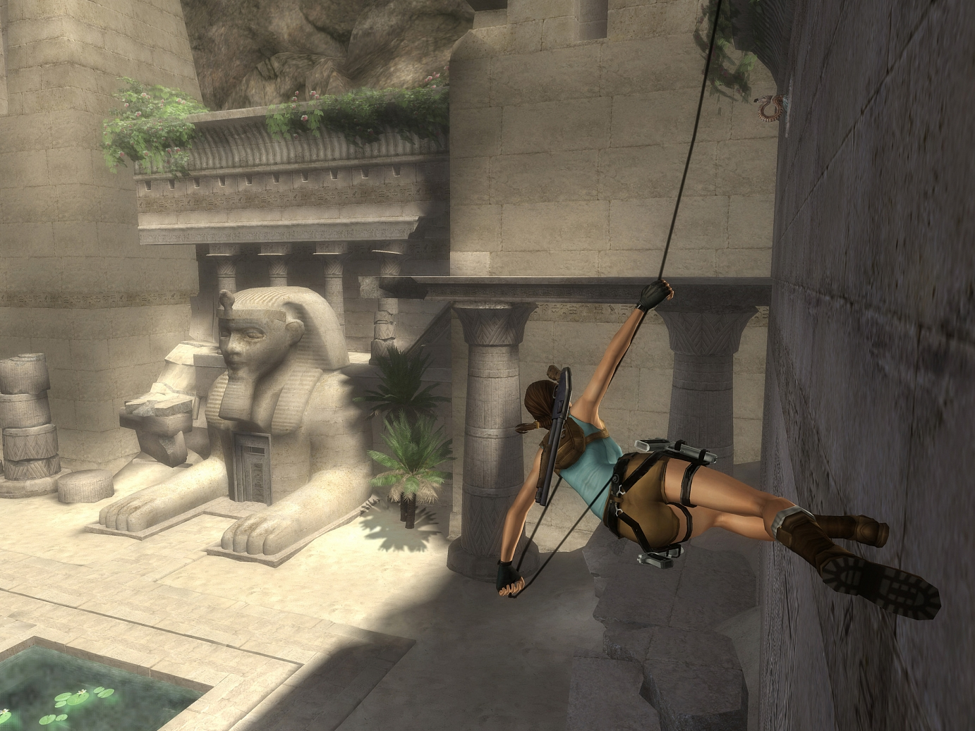 Tomb Raider: Anniversary is a remake of the first video game in the series.