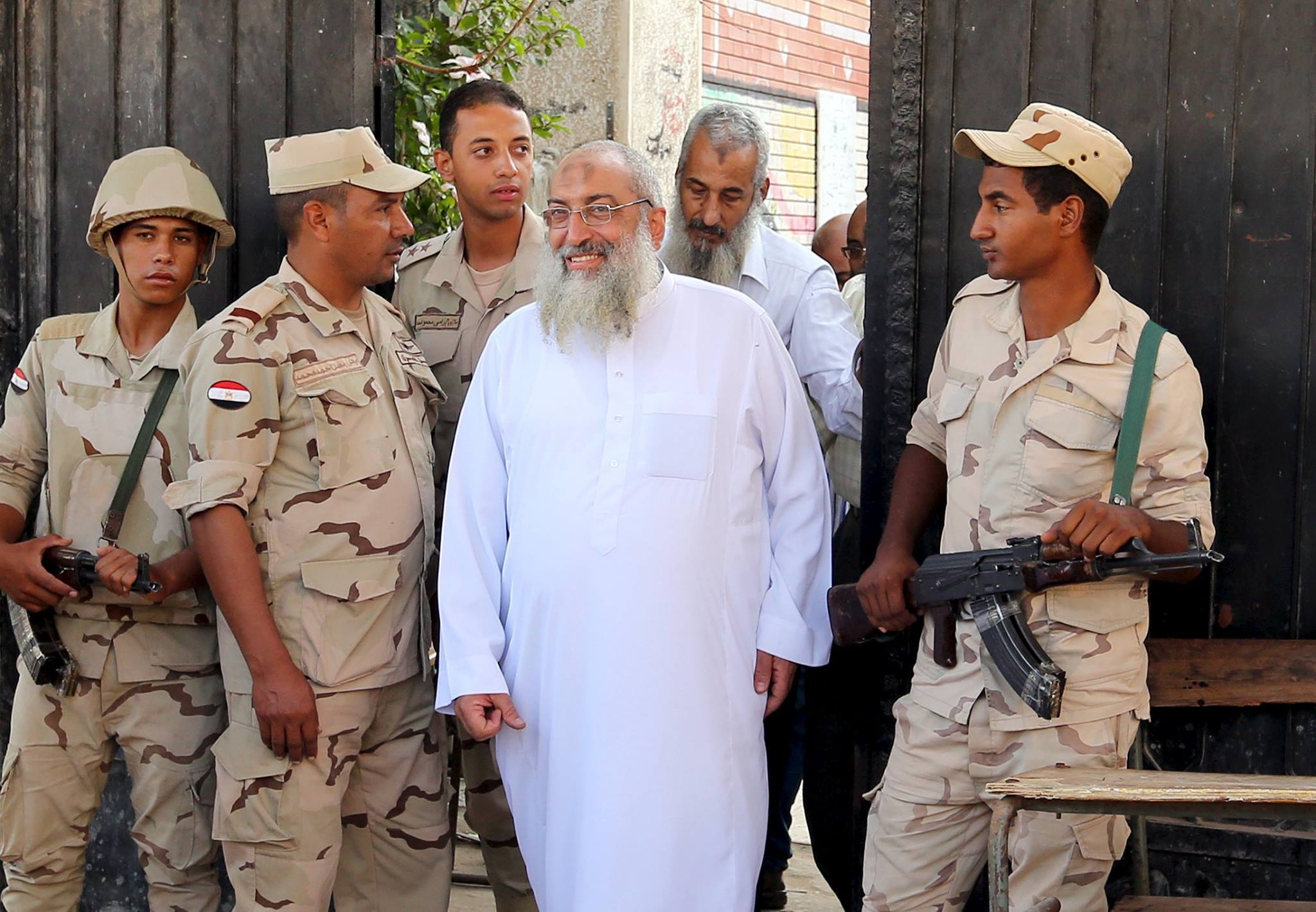 Yasser Borhami, founder of the Salafist Al Nour Party, after casting his ballot [Credit: Reuters]