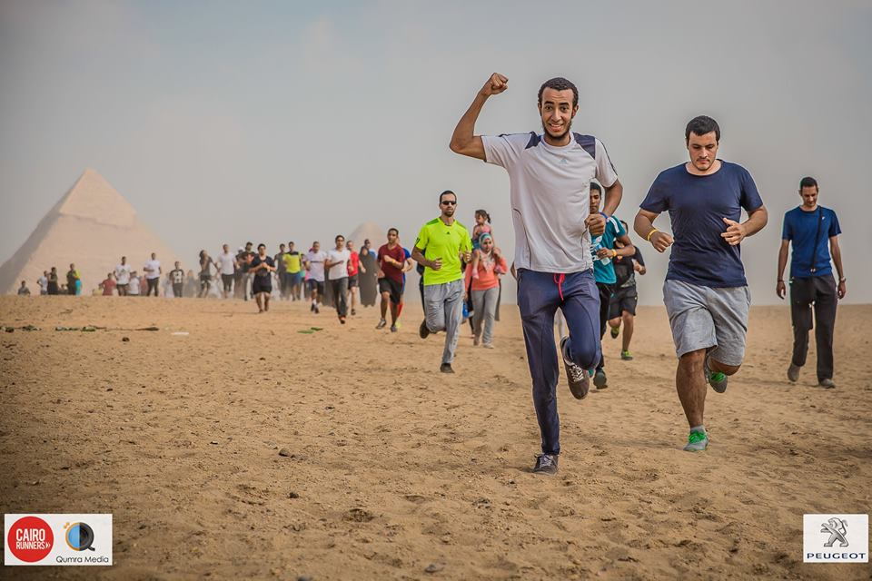 Cairo Runners has partnered with Esma3ny to raise awareness on hearing loss in Egypt on Friday Nov. 6. [Picture from Cairo Runners' Pyramids Run]