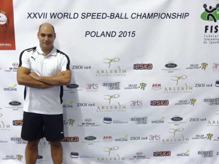 Nabil Imam at the 2015 Speed-Ball World Championship in Poland. Source: FISB Facebook page