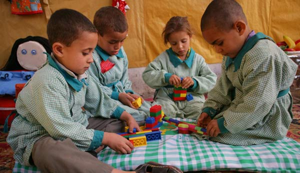 Children play at a UNICEF-supported community preschool in Qena Governorate, Egypt. Photo: UNICEF/Giacomo Pirozzi