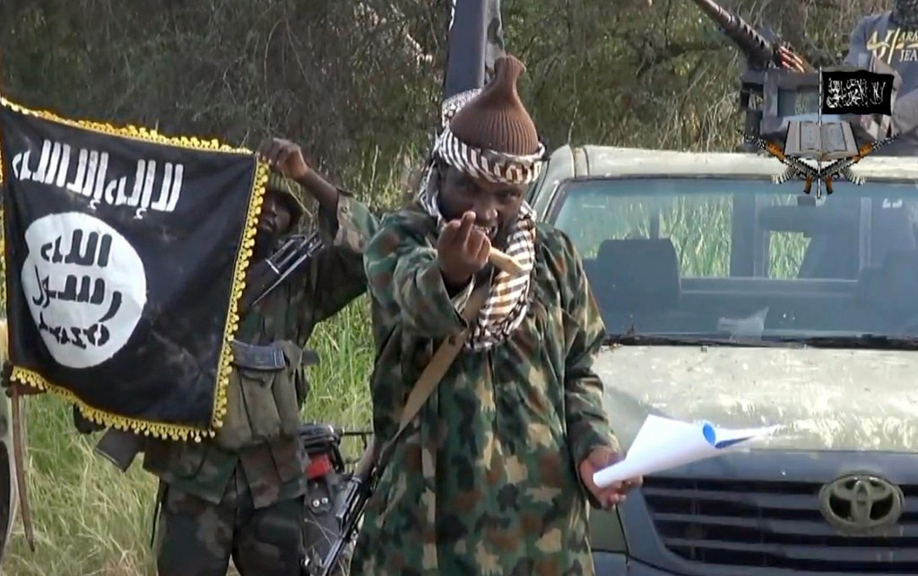 A Boko Haram leader in a video declaring allegiance to ISIS