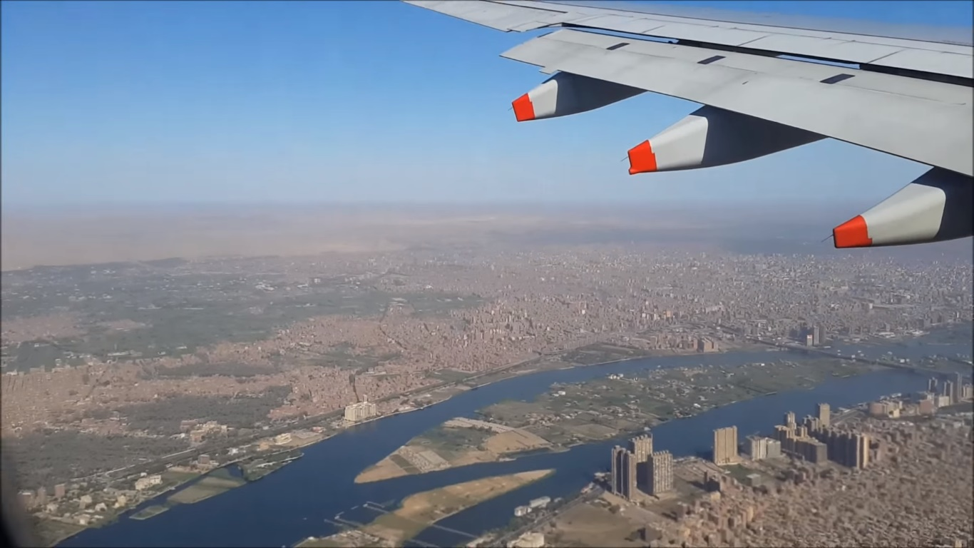 Flying over Cairo