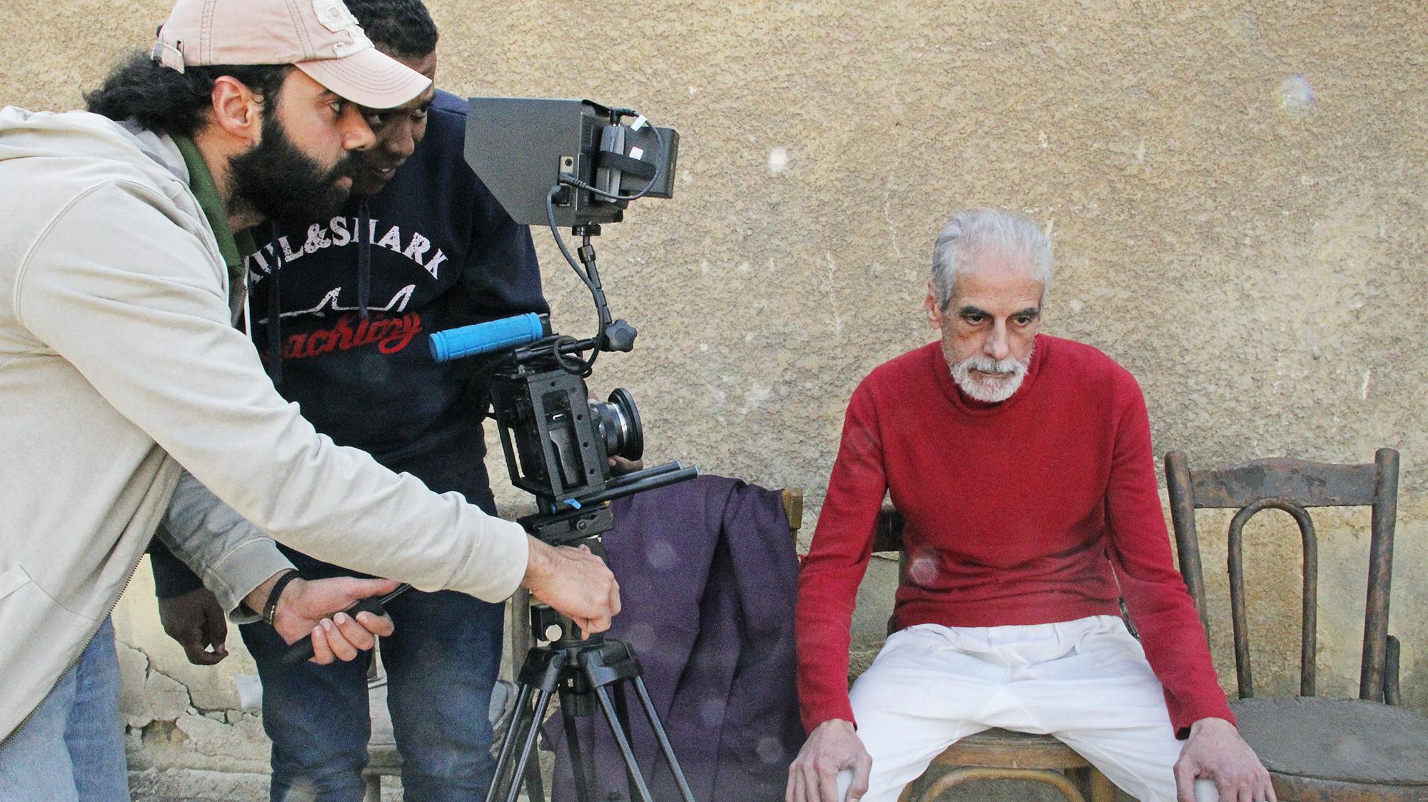 On-set shooting with Habby Khalil, Karim Shaaban and actor Mostafa Darwish. Courtesy of Karim Shaaban