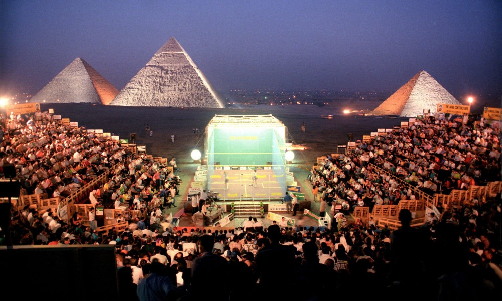 Squash at the Pyramids during the Al-Ahram International, initially inaugurated in 1996