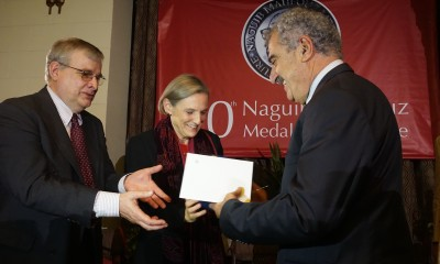 Hassan Daoud received the 2015 AUC Press Naguib Mahfouz Medal for LIterature. (Photo handout)