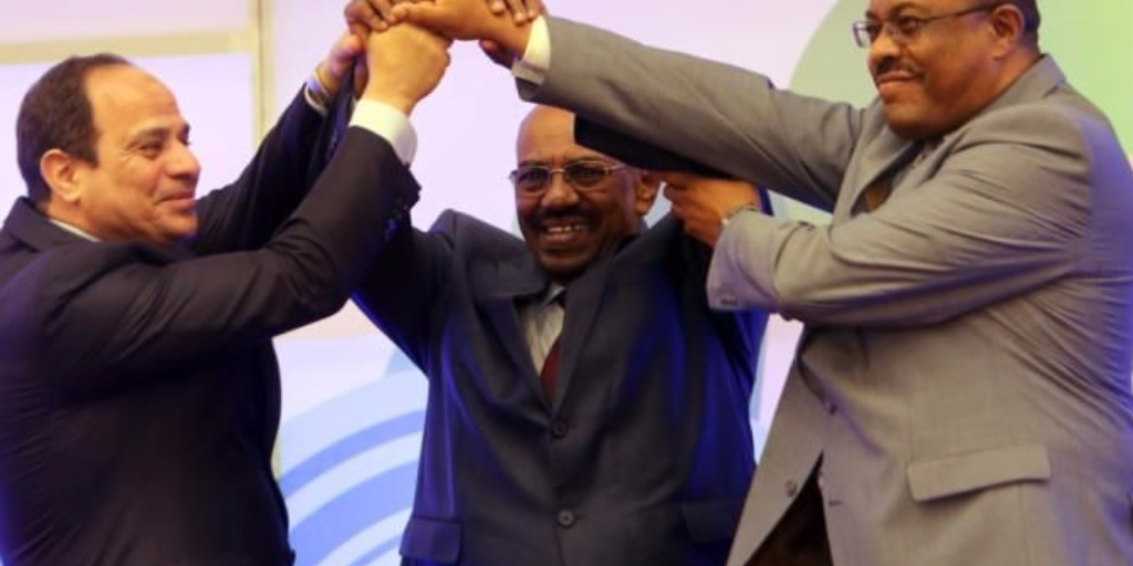 On March 23, 2015, Egypt's President Sisi, Sudan's President Al-Bashir and Ethiopia's Prime Minister Desalegn signed a preliminary deal to end the water crisis that has developed between the three countries.