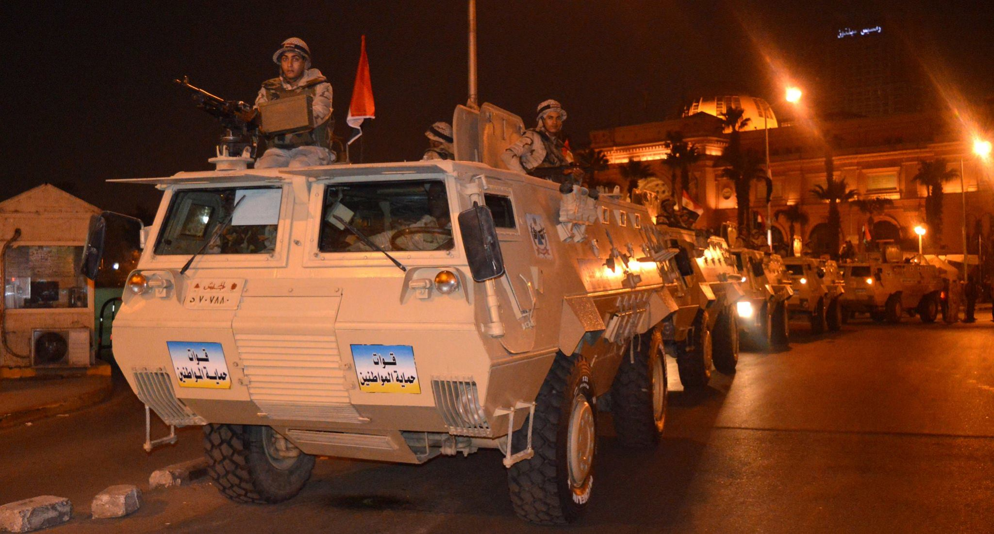 Egyptian military forces at Tahrir Square (photo provided by Military)
