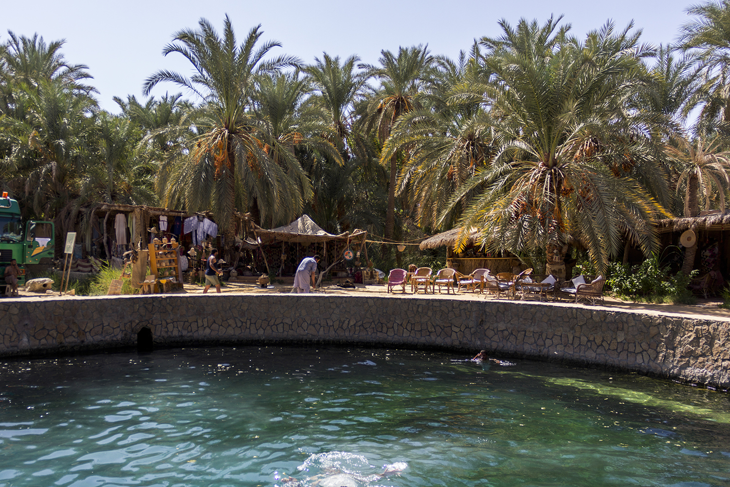 Cleopatra's bath is one of Siwa's most popular mineral springs