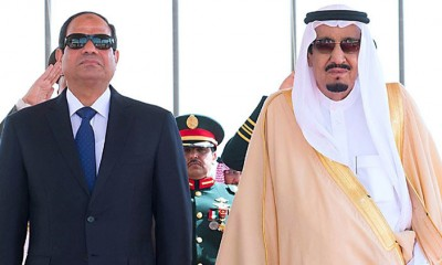 Egypt's President Sisi meets Saudi King Salman in March 2015.