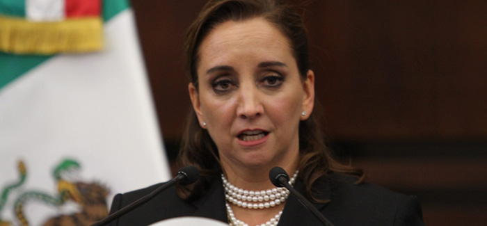 Mexico's Foreign Minister Claudia Ruiz Massieu. Credit: Notimex