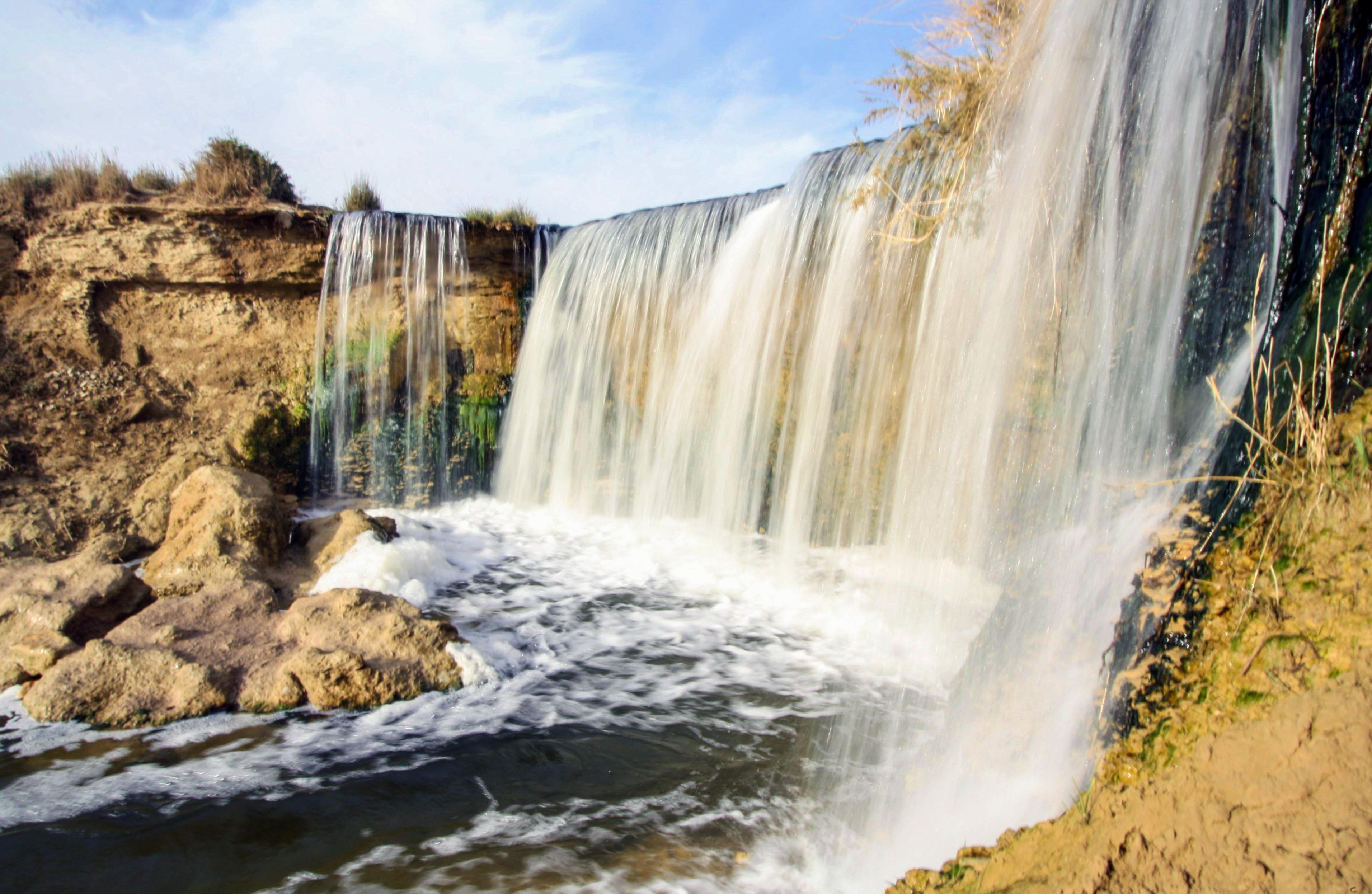One side of Fayoum's famous waterfalls situated in Wady al-Rayan protectorate. Credit: Enas El Masry