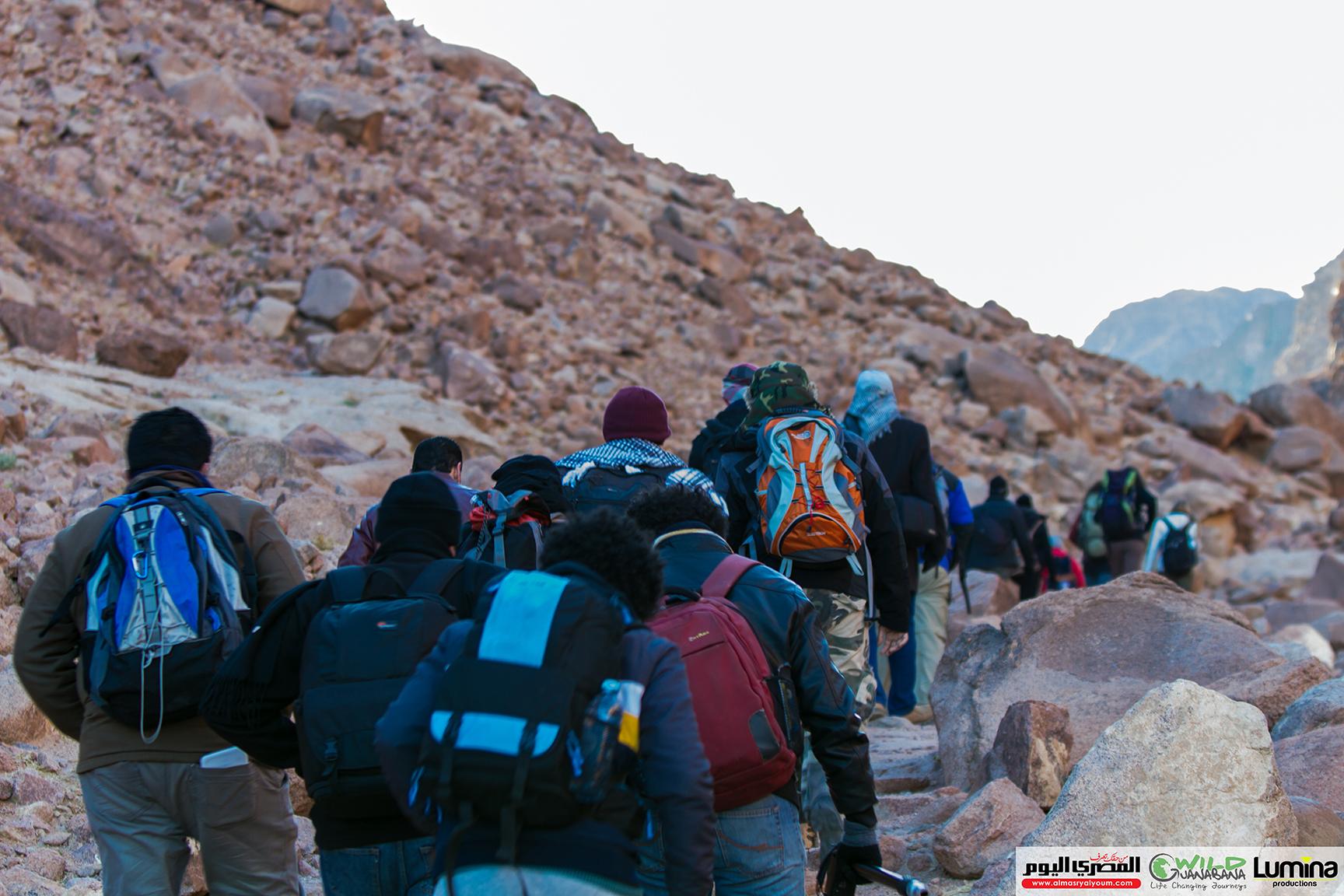 Hiking up Mount St Catherine. Credit: Lumina Productions