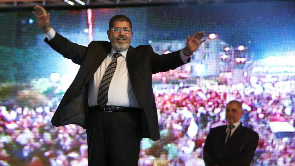 Mohamed Morsi at a rally in May. Photo: Fredrik Persson, AP
