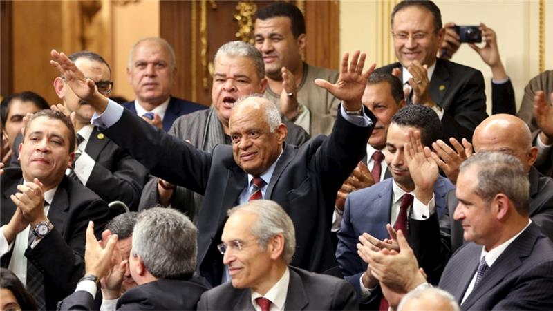 Ali Abdel Al, Egypt's new Parliamentary speaker [Reuters]