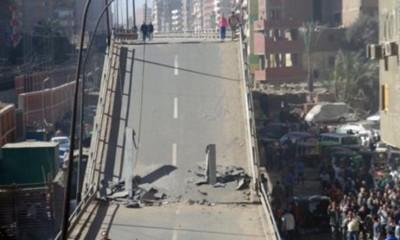Archive photo of a bridge collapse in Cairo, 2014. Photo: Al-Ahram