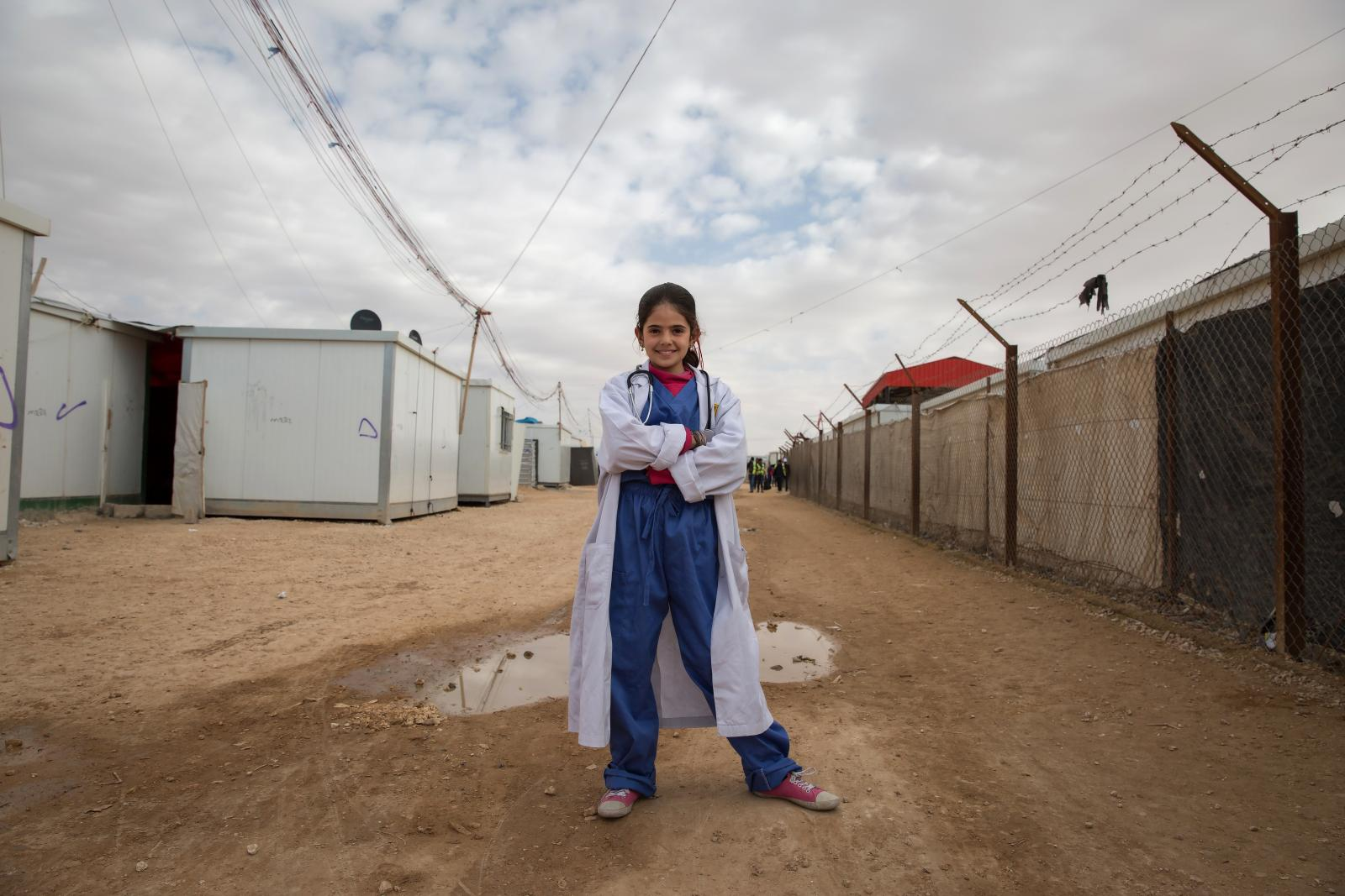 Rama, 13, dreams of becoming a doctor.