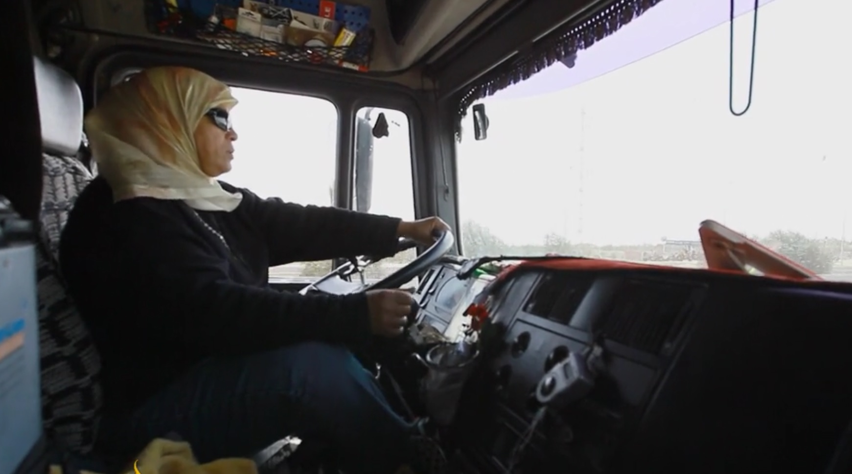 Single truck driver woman