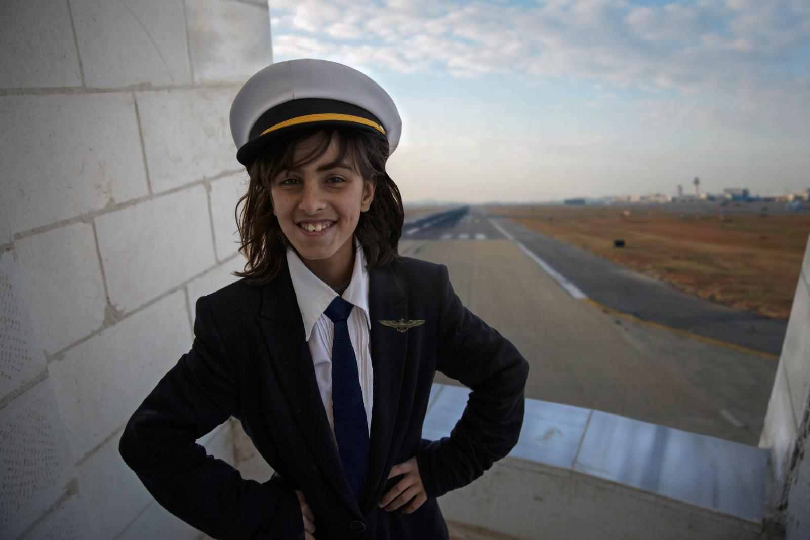 Future pilot, 10-year-old Rama