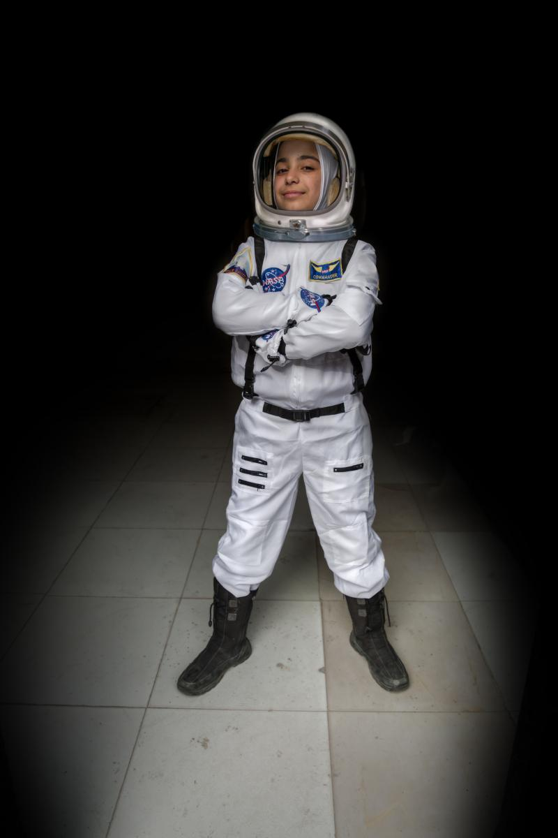 """Ever since we studied the solar system in primary school, I have wanted to be an astronaut. I would imagine myself up in the sky discovering new things."" - Haja, 12, 'future astronaut'"