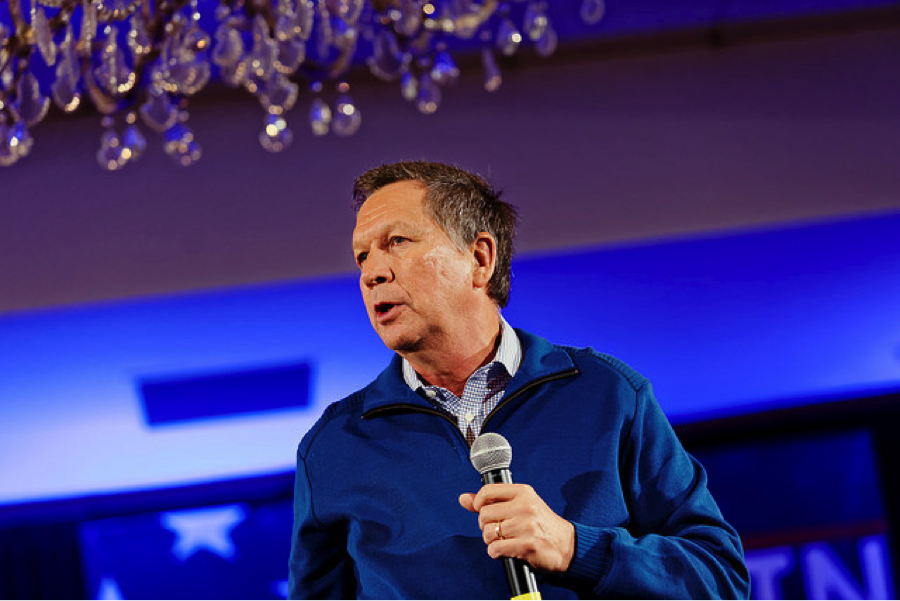 Governor of Ohio John Kasich at NH FITN 2016. Photo by Michael Vadon