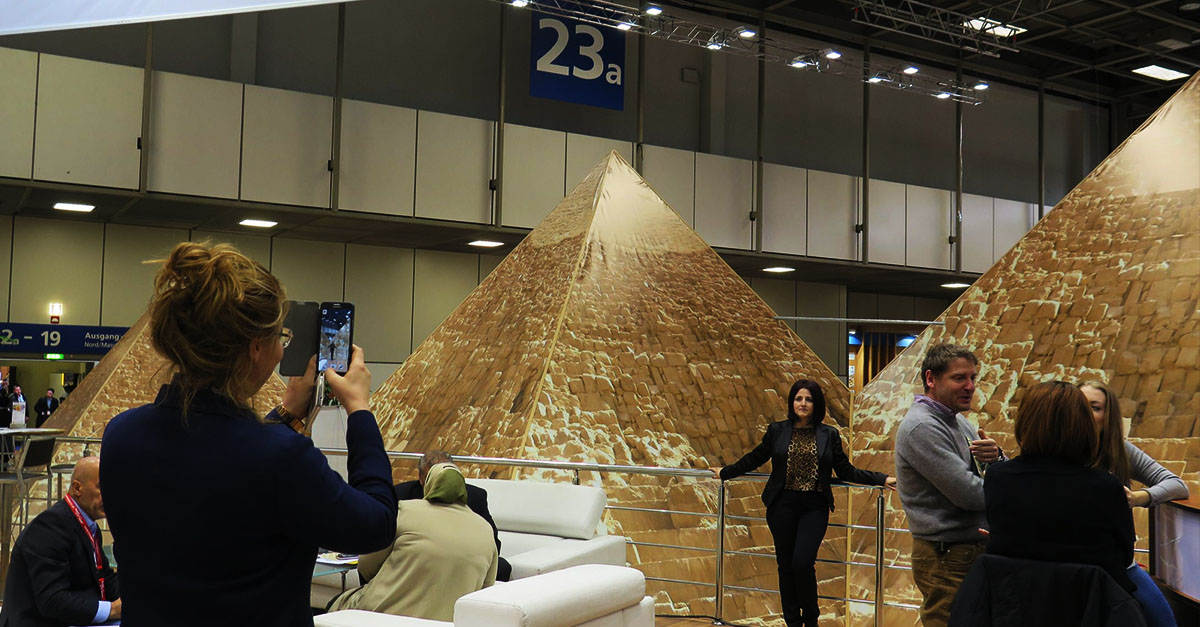 Egypt's display at the 2016 ITB Berlin Convention