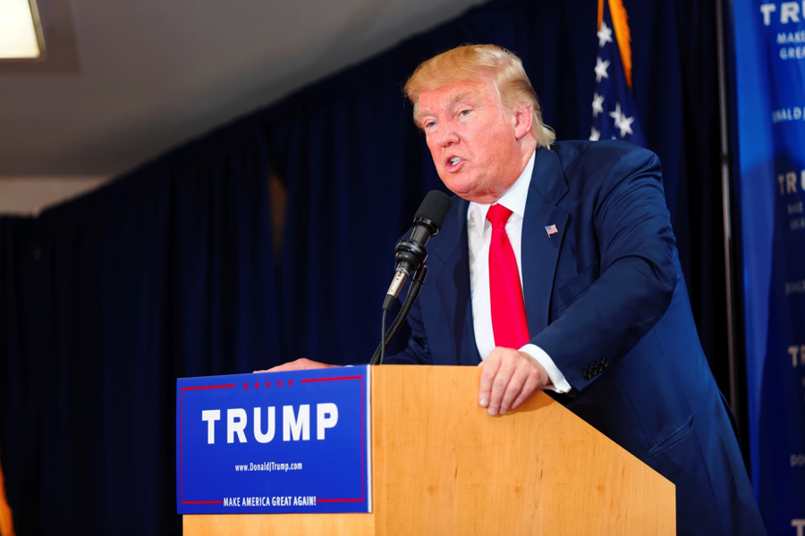 Trump at an early campaign event in New Hampshire on June 16, 2015. Photo by Michael Vadon