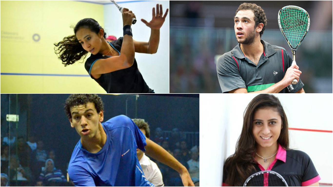 Gohar, Ashour, El Shorbagy, and El Sherbini all made the finals at the British Open