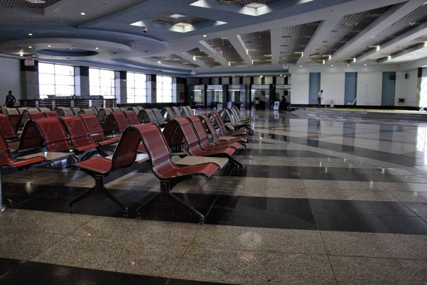 The arrival hall is empty at the Sharm el-Sheikh Airport in south Sinai, Egypt, Monday. Airbus executives say they are confident in the safety of the A321 that crashed Oct. 31 in Egypt's Sinai Peninsula, killing all 224 people on board. Photo: AP