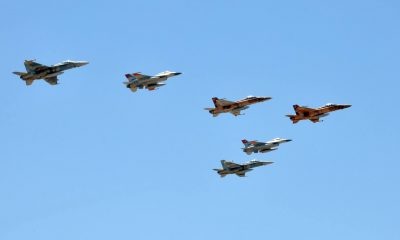 Egypt's fighter jets participated in an airshow to mark Sinai Liberation Day.