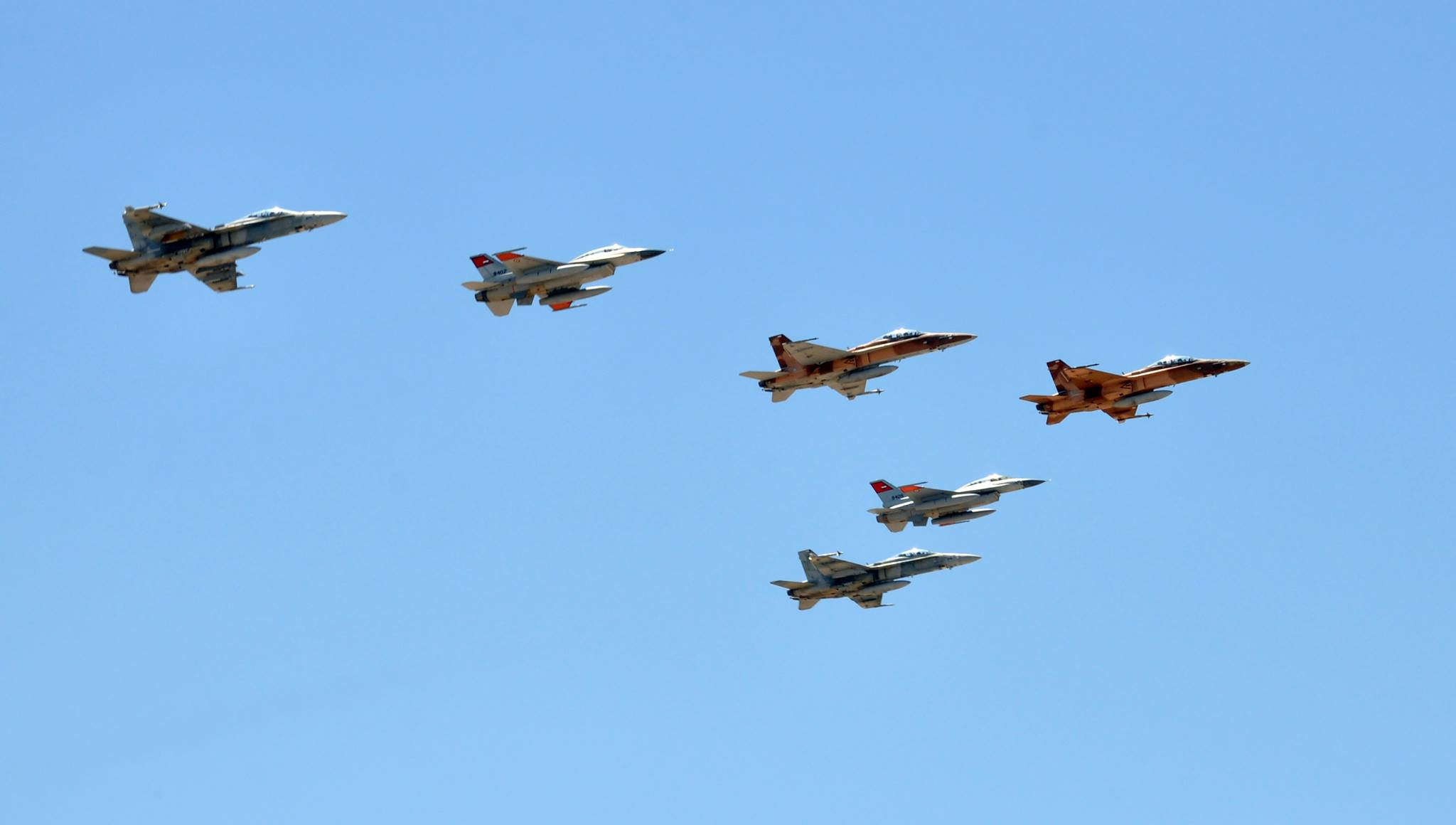 Egypt`s fighter jets participated in an airshow to mark Sinai Liberation Day.