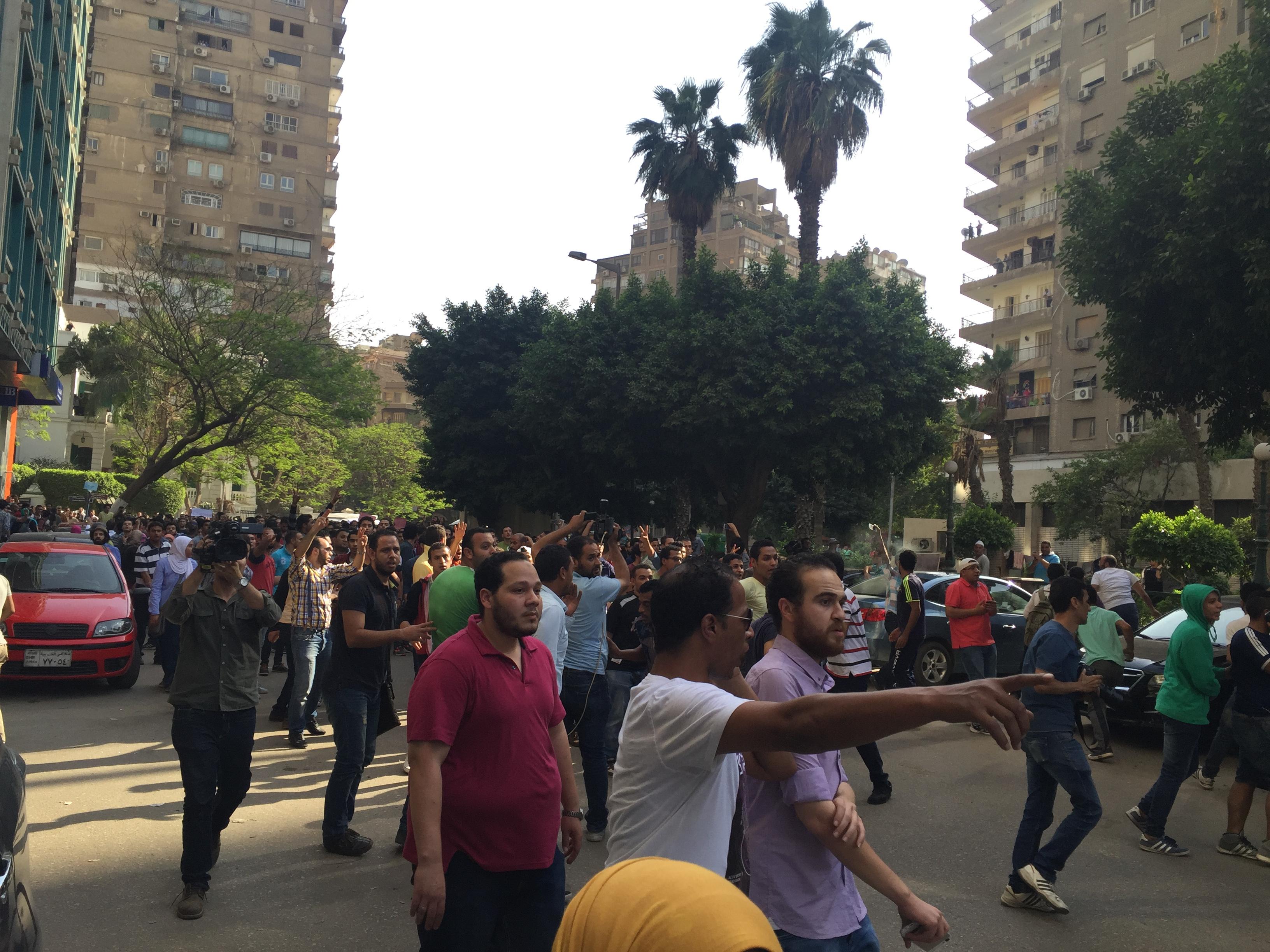Demonstrators on 25 April. Photo: Salma El Saeed