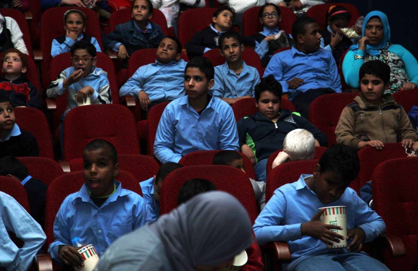 Masreya Media targets children who have never been given the chance to watch an animated movie before. (Photo by Omar Hisham)