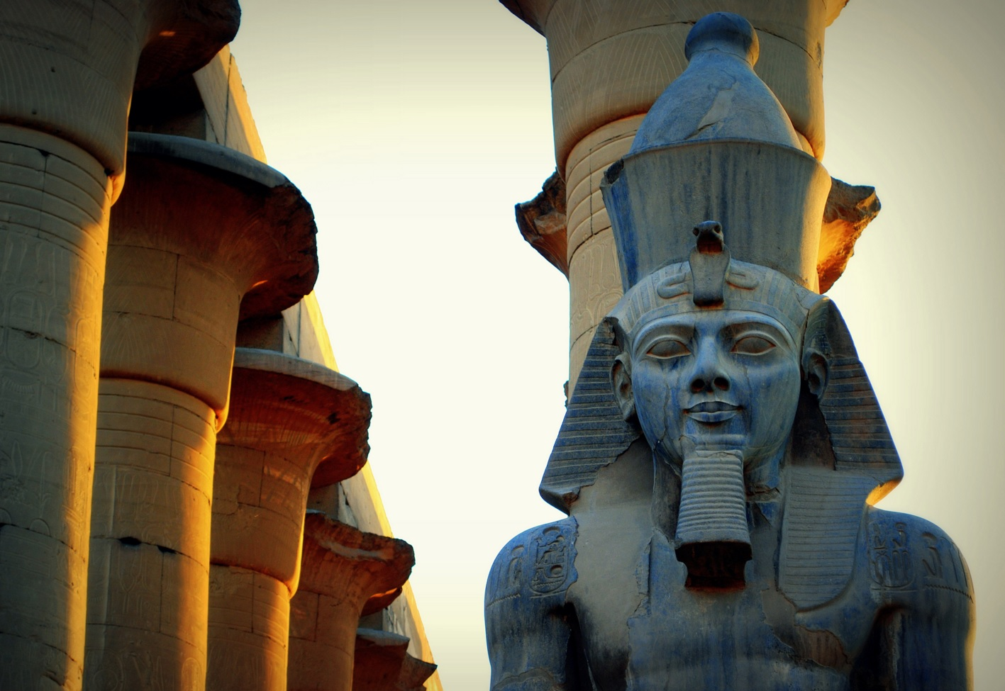 Statue of Ramsees II in Luxor Temple (Credit: Mohammed Moussa, Wikicommons)