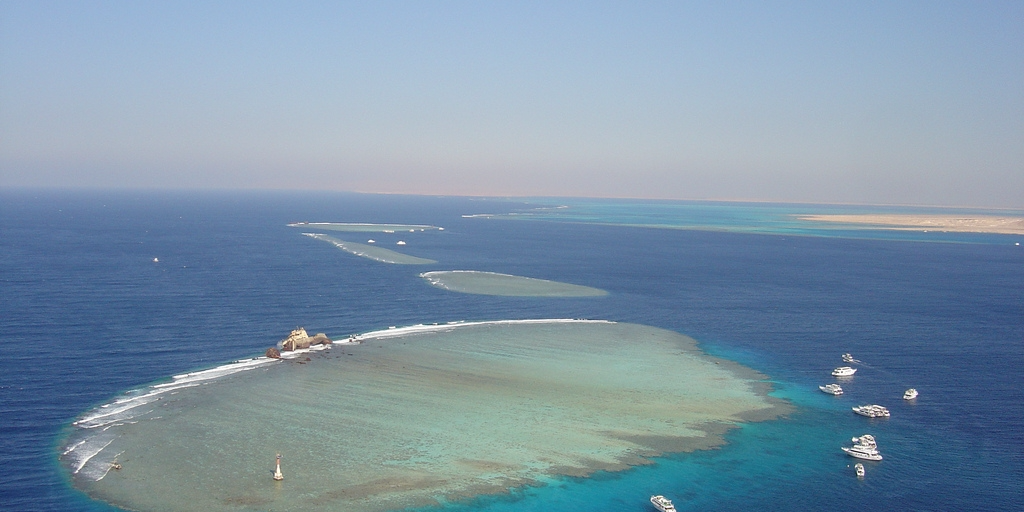 The strait of Tiran, a popular destination for scuba divers