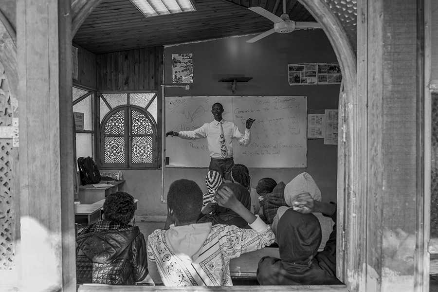 A teacher during classtime