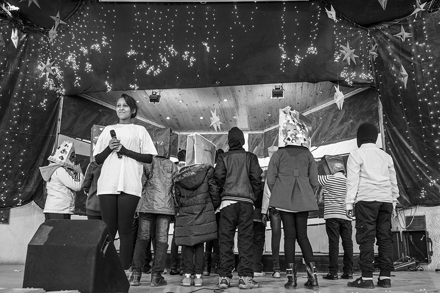 Students' performance at a Christmas celebration