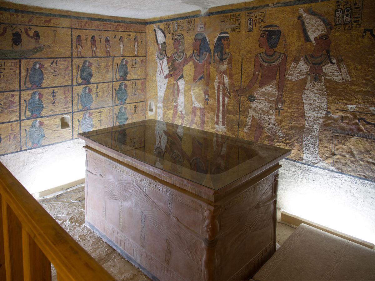 Tutankhamun tomb facsimile. Photo courtesy of Factum Arte