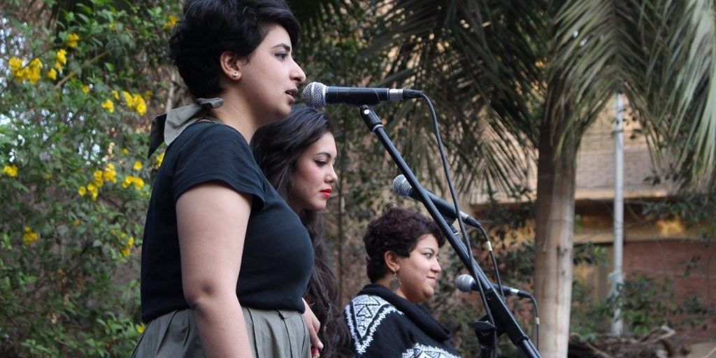 Bint al-Masarwa music band. Photo credit: The band's Facebook page