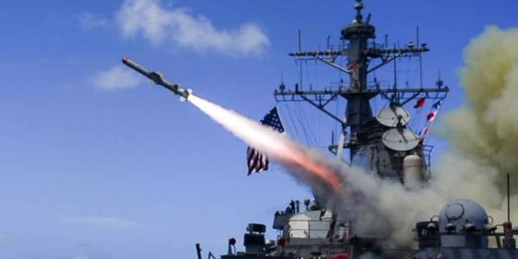 Arleigh Burke-class guided missile destroyer USS Fitzgerald (DDG 62) conducts a live fire of a harpoon missile during Multi-Sail 2016. U.S. Navy photo by Mass Communication Specialist 3rd Class Eric Coffer