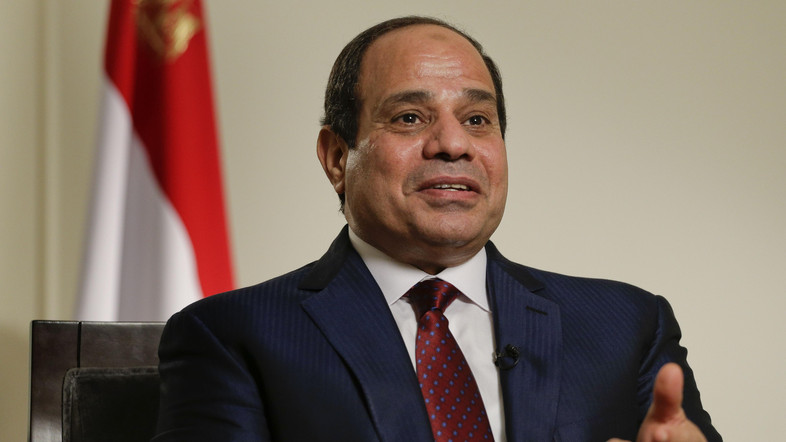 Egyptian President Abdel Fattah el-Sisi answers questions during an interview, Saturday, Sept. 26, 2015, in New York. (AP Photo/Julie Jacobson)