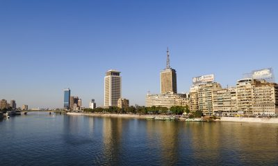 Cairo skyline and Nile River