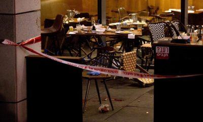 Scene of the attack in Tel Aviv (Credit: AP)